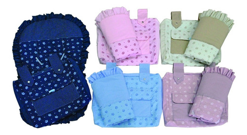 kit capa de carrinho com bolsa enxoval de bebe menino menina