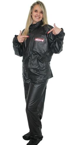 kit capa de chuva motoqueiro femi g serrana + polaina g