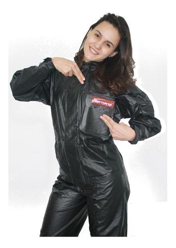 kit capa de chuva motoqueiro feminina p serrana  + polaina p