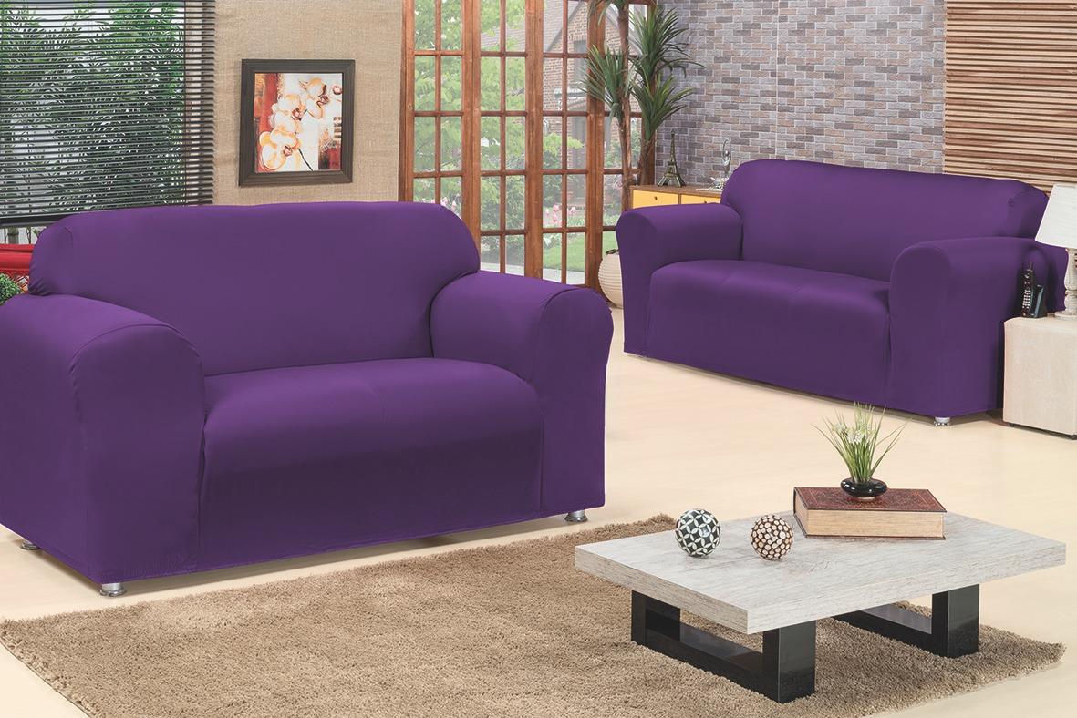 919709190f kit capa de sofá lisa diamante 2 e 3 lugares 2 peças la. Carregando zoom.