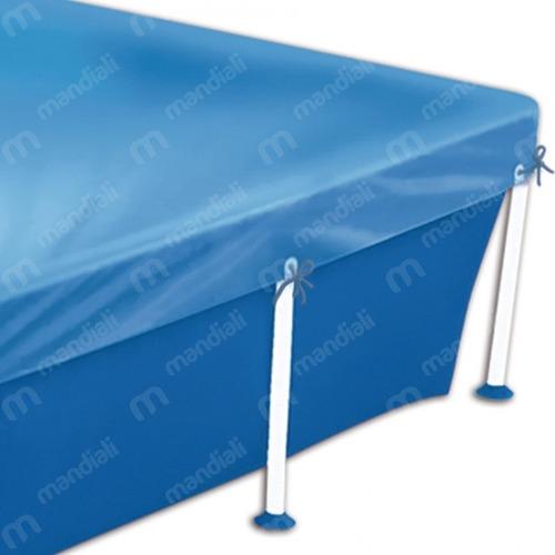 kit capa + forro para piscina retangular 2000 litros mor