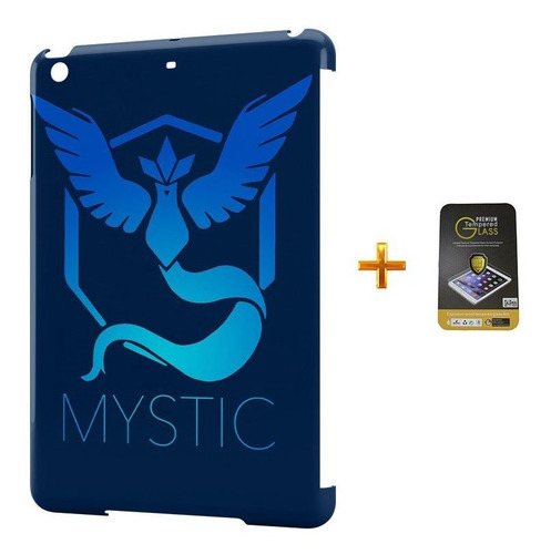 kit capa ipad mini 2/3 pokemon mystic team +pel.vidro bd1