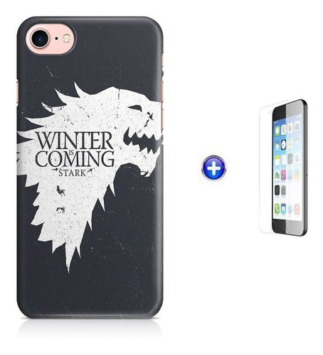kit capa iphone 7 - 4,7  game of thrones +pel.vidro bd1