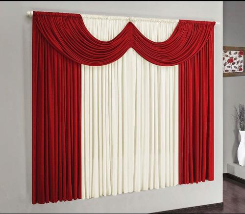 kit capa para sofá de canto e cortina parís 3 metros