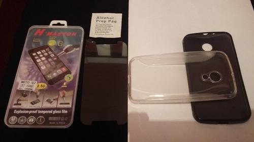 kit capa+película de vidro novo moto g2 xt1068 xt1069