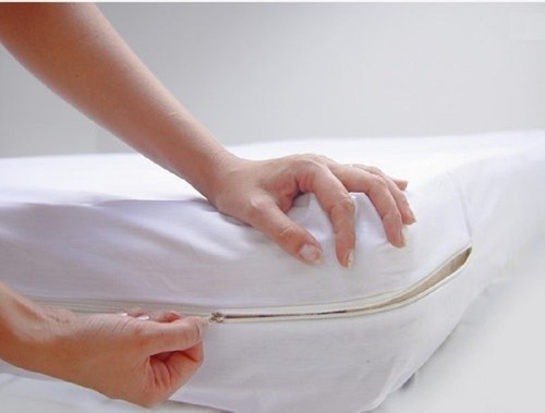 kit   capa  protetora impermeável de colchão casal ziper