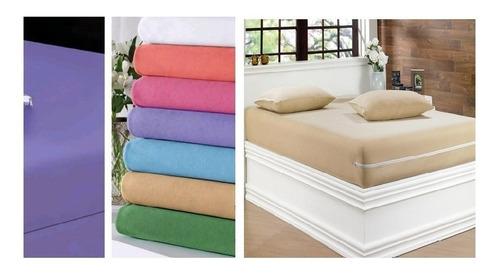 kit   capa  protetora impermeável de colchão solteiro ziper