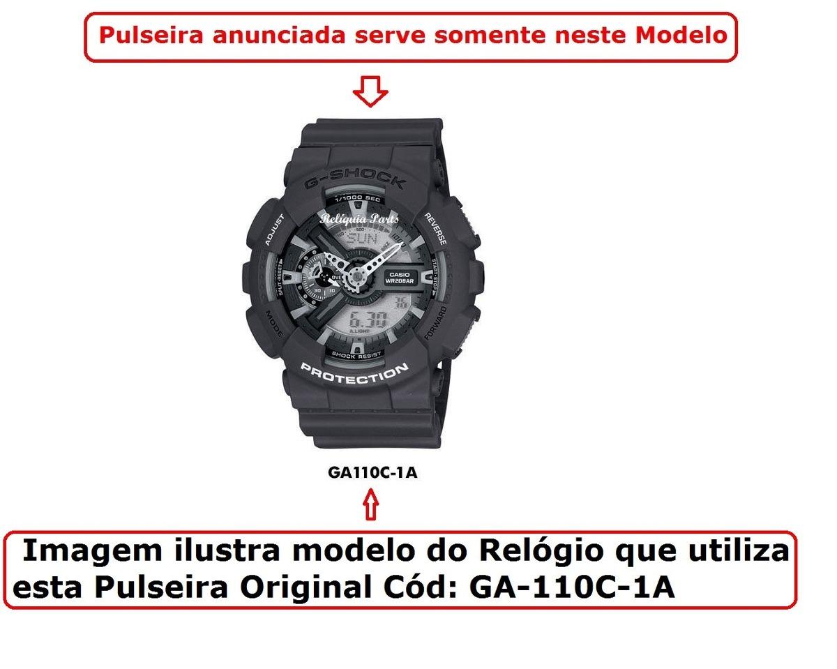 da100e21c3d Kit Capa + Pulseira Casio G-shock Ga-110c -1a Cinza Original - R ...