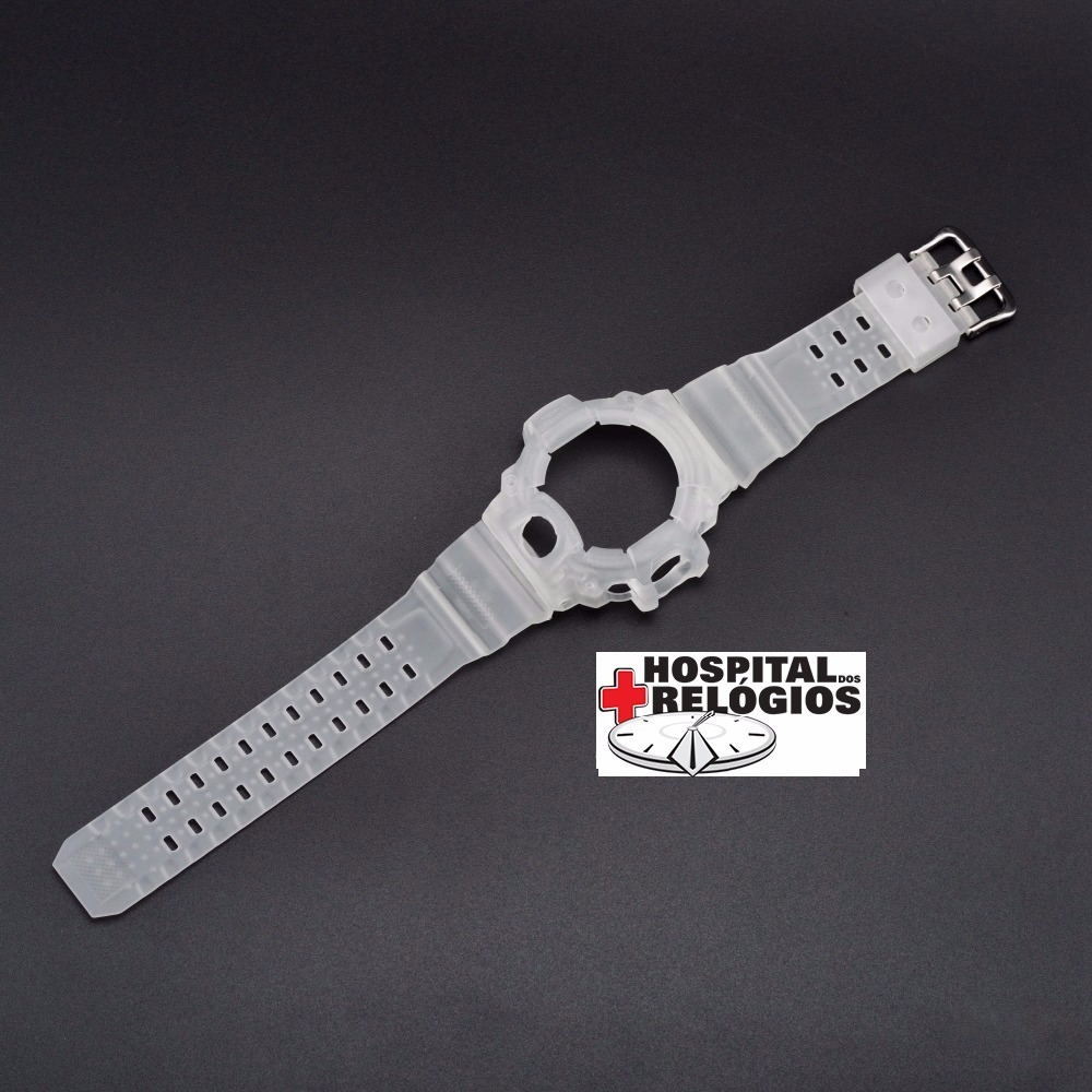 f1fc0e50f90 Kit Capa Pulseira Casio G-shock Gw-9400 Rangeman Transparent - R ...