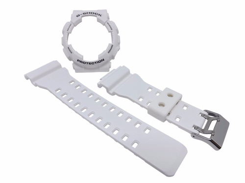 kit capa pulseira casio ga-100 ga-110 gd-100 branco g-shock