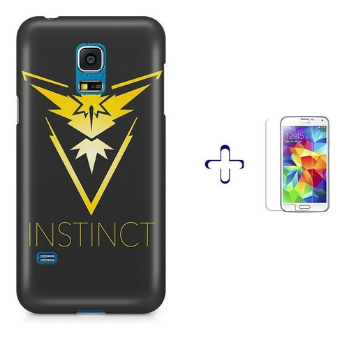kit capa s5 mini pokemon instinct team +pel.vidrbd1