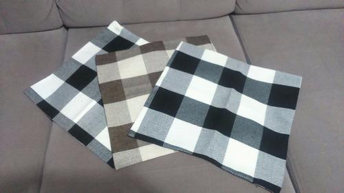 kit capas para almofadas 03 peças 45x45