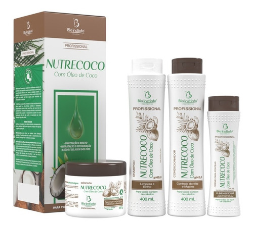kit capilar profissional óleo de coco bio instinto