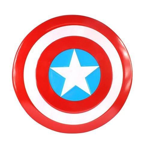 kit capitão america escudo + mascara + boneco em até 12x