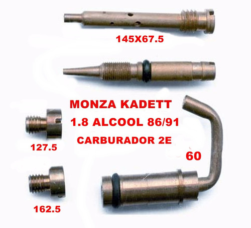 kit carburador 2e solex duplo monza 1.8 86/91 alcool