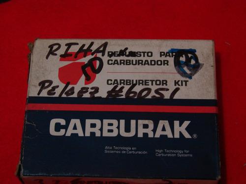 kit  carburador chevette 1.4 1.6 weber año 83 1 boca
