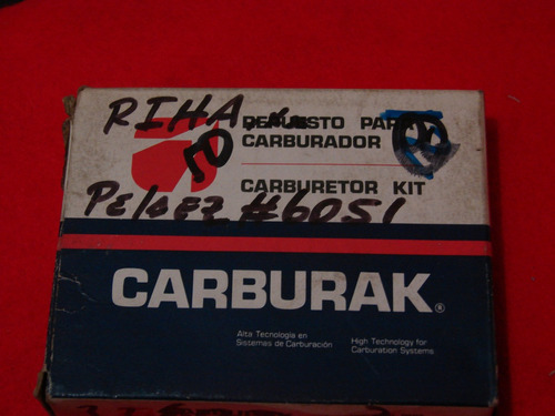 kit  carburador chevette 1.4 1.6 weber año 83 228047