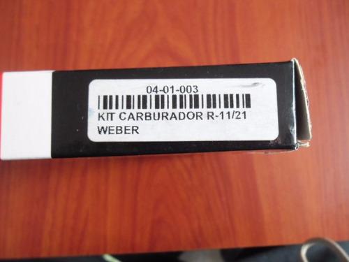 kit carburador renault 11 / 21 weber 2 bocas tecni parts