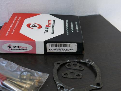 kit carburador toyota samuray 3f, 4000cc, fj-70,fj-73,fj-75.