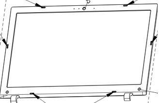 kit carcasa l50-c, l55-c lcd cover, bisagras y lcd bezel