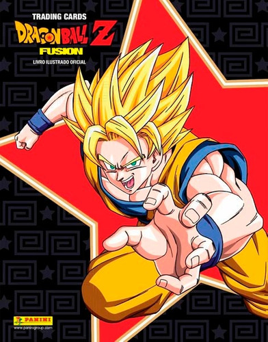 kit cards dragon ball z fusion pasta álbum 10 envelopes
