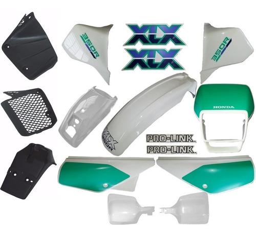 kit carenagem adesivado xlx 350 branca 90 - 12 peças