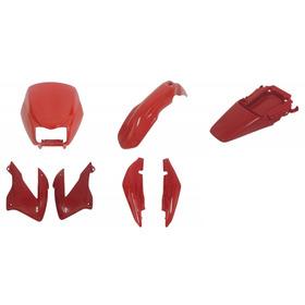 Kit Carenagem Bros 150 Vermelho Ano 2003 A 2008  Completo