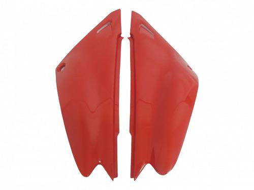 kit carenagem paralama tampa xtz 125 vermelho 2006 a  2009