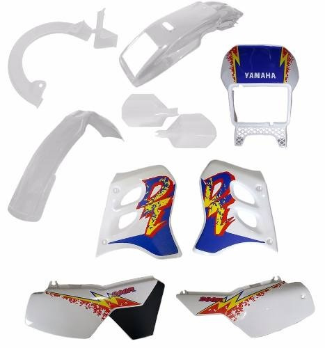 kit carenagem plastico yamaha dt 200r - 10 pecas - paramotos