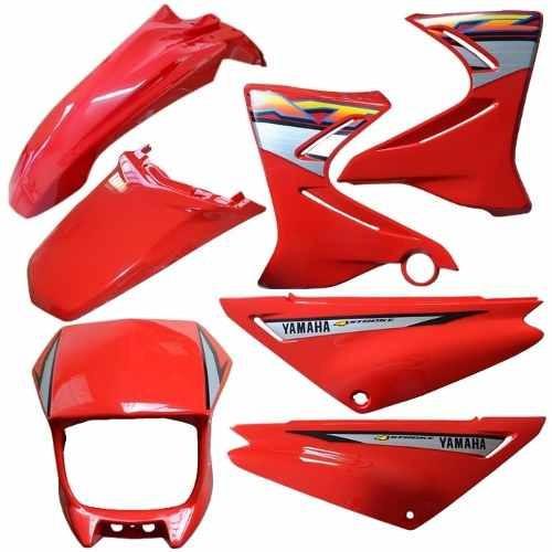 kit carenagem plasticos adesivado yamaha xtz 125 200 a 2005