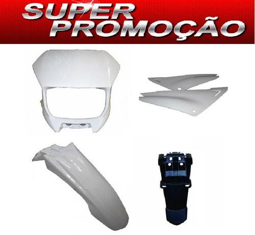 kit carenagem xtz 125 branco 2005