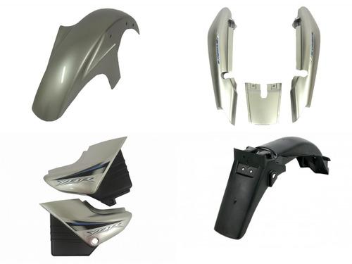 kit carenagem ybr 125 prata 2008 k/e/ed