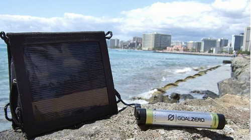 kit carga solar panel + cargador switch 8 goal zero nuevos