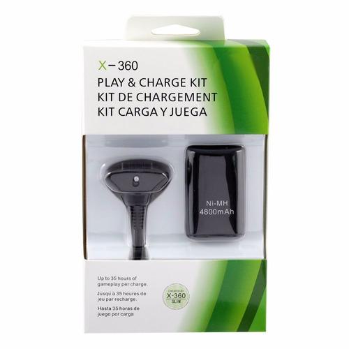 kit carga y juega para control 360 colores negro y blanco