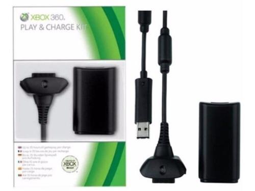 kit carga y juega xbox 360 batería 4800mah y cable cargador