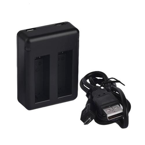 kit cargador doble + 1 bateria para go pro 4 silver y black