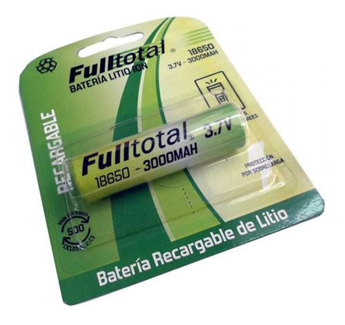 kit cargador + pila 18650 fulltotal 3ah reales linternas