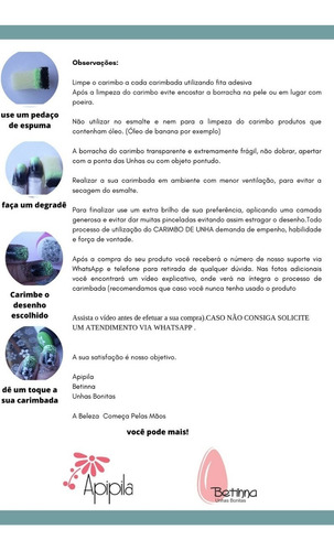 kit carimbo apipila duplo e transparente grátis borrachas