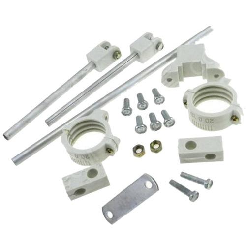 kit carona 2 suportes profissional em aluminio - 3 satélites