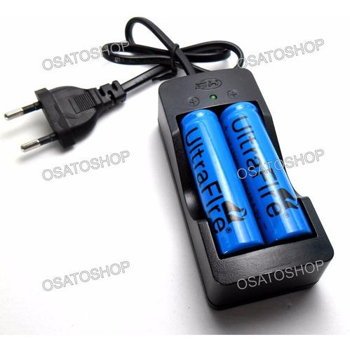 kit carregador + 2 baterias 18650 3.7v frete grátis