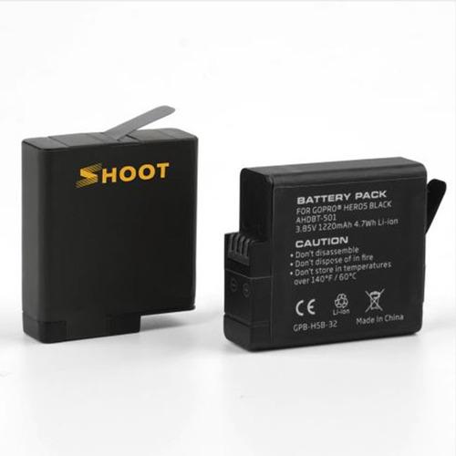 kit carregador duplo duas baterias - gopro hero5 hero6 hero7