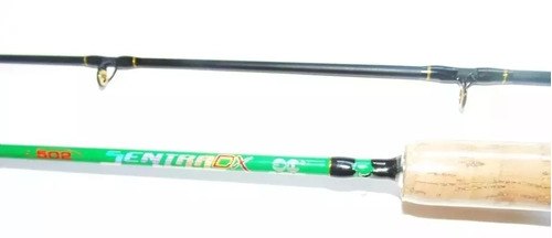 kit carretilha ninja 9000 + vara sentra dx + linha brindetop