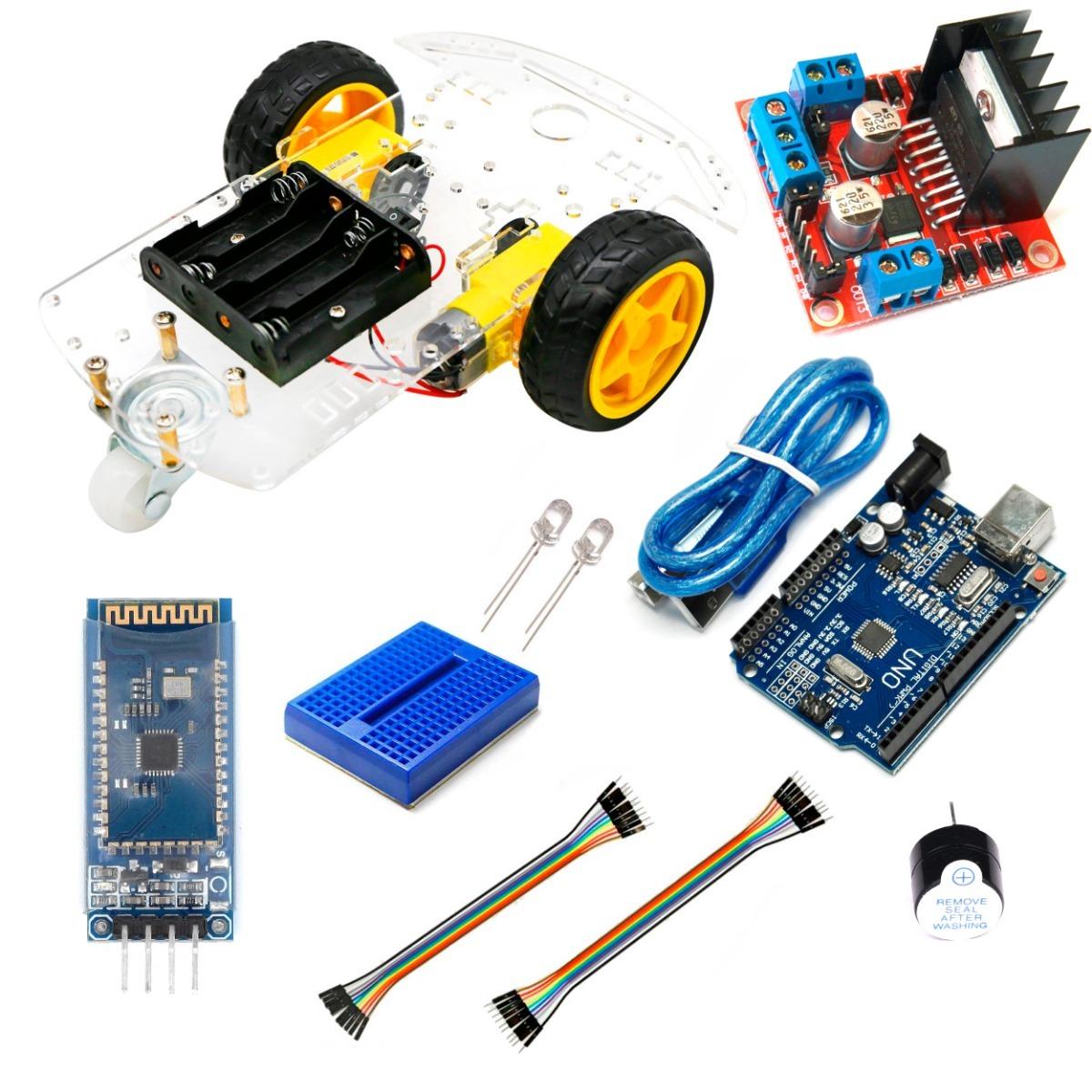 Kit Carro Robot Bluetooth Arduino, Instructivo, Codigo, App