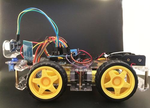 kit carro robot smart multi-funcion en arduino evasor de obs