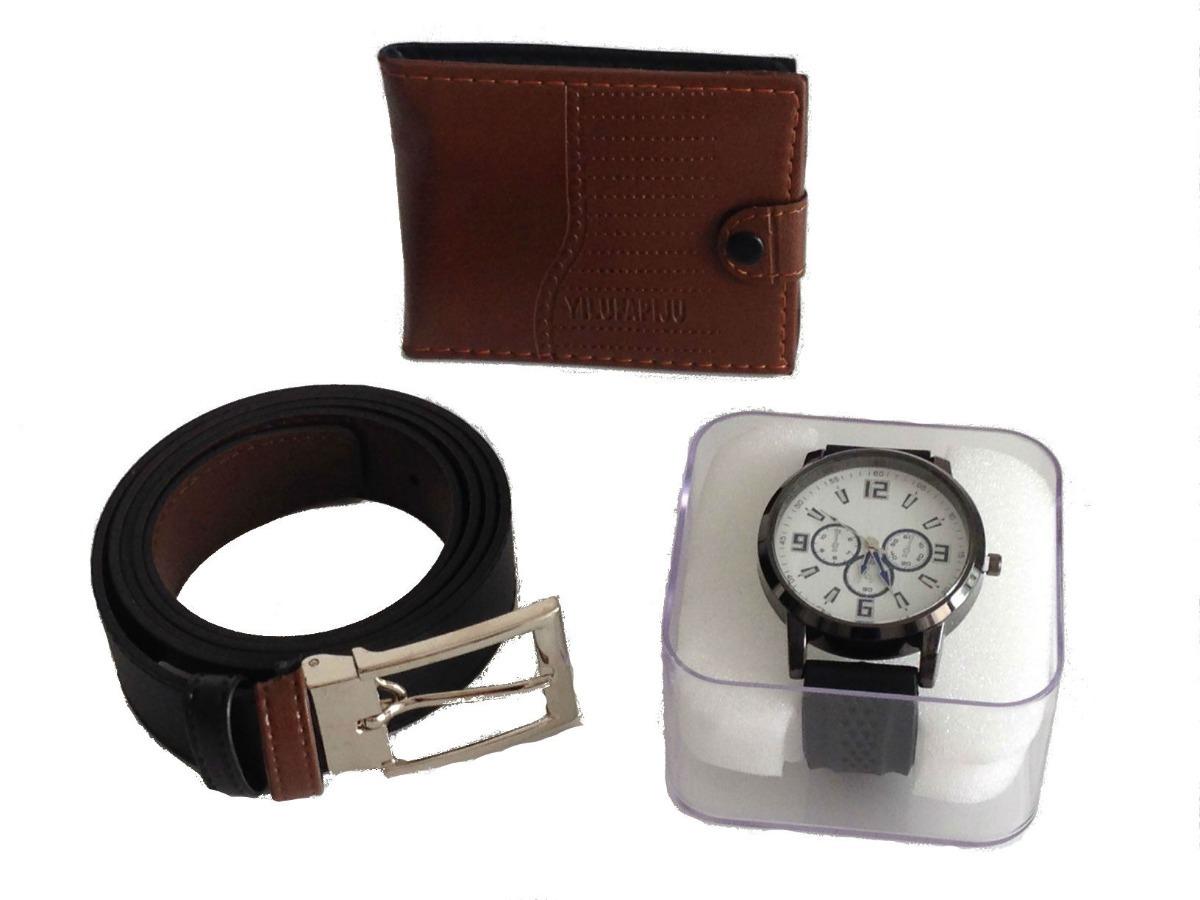 9f0dd011d07 kit carteira + cinto + relógio frete grátis ótimo presente. Carregando zoom.