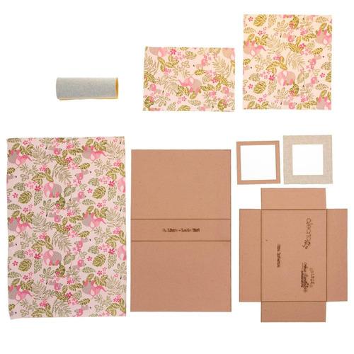 kit cartonagem prática  caixa livro com moldura 23x16x5cm [v