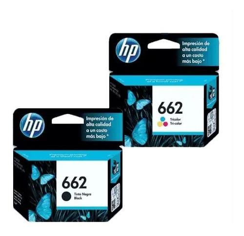 kit cartuchos 662 negro & color pata impresoras hp 1015 251