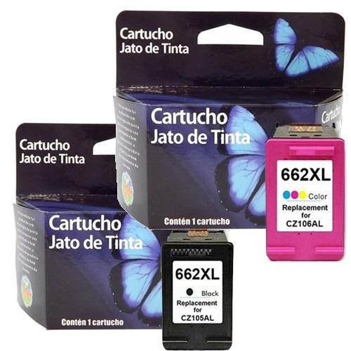 kit cartuchos 662xl preto e color promoção