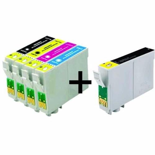 kit cartuchos impressora tx235w tx320f tx420w 430 + 01 preto
