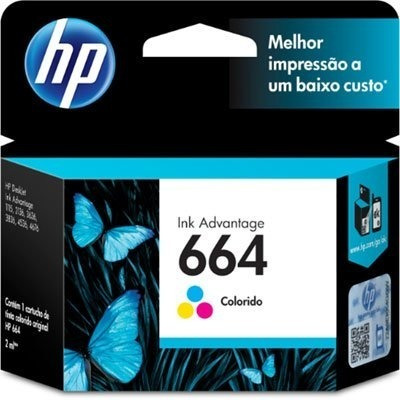 kit cartuchos originais hp 664 preto + color deskjet 1115 2136 2676 3636 3776 3790 4676
